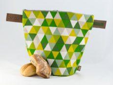 bunbag,bunbag-Triangoli verde,Brotkorb,Brotbeutel,Brötchentasche