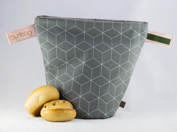bunbag,bunbag-cubo grigio,Brotkorb,Brotbeutel