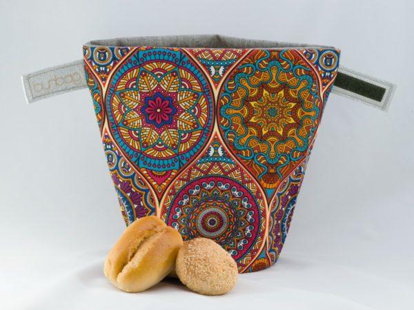 bunbag,bunbag-Mandala,Brotkorb,Brotbeutel,Brötchentasche