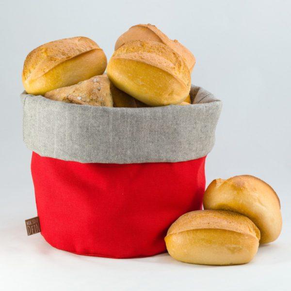 bunbag,bunbag-rote Wonne,Brotkorb,Brotbeutel,Brötchentasche
