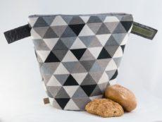 bunbag, bunbag-triangoli grigio, Brotkorb,Brotbeutel