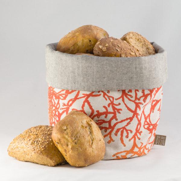 bunbag,bunbag-die Koralle,Brotkorb,Brotbeutel,Brötchentasche