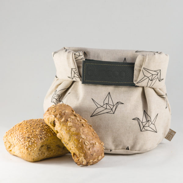 bunbag,bunbag-Origami Birds,Brotkorb,Brotbeutel,Brötchentasche