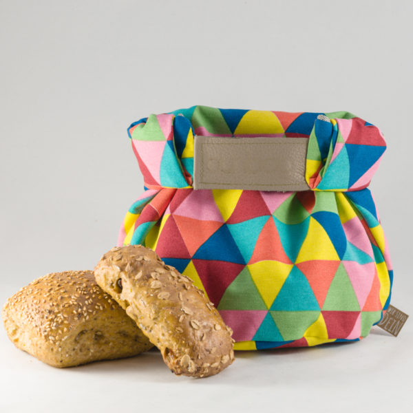 bunbag,bunbag-Triangoli colorati,Brotkorb,Brotbeutel,Brötchentasche