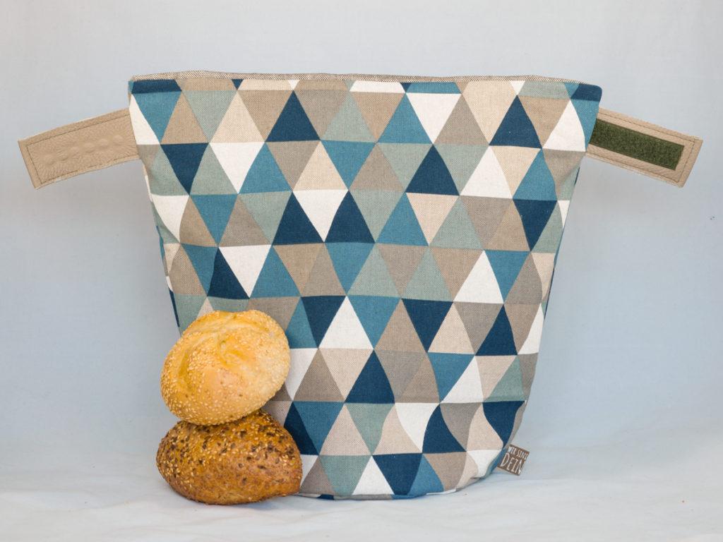 bunbag, bunbag-triangoli blu, brotkorb, brotbeutel, brötchentasche