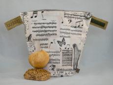 bunbag, bella musica, brotkorb, brotbeutel
